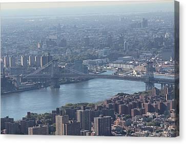 Canvas Print featuring the photograph Williamsburg Bridge by David Grant