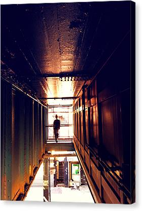 Williamsburg - Brooklyn - Hewes Street Overpass Canvas Print by Vivienne Gucwa