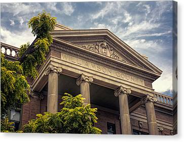 Williamson County Courthouse Canvas Print by Joan Carroll