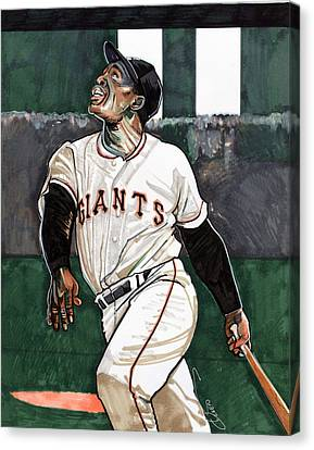 Willie Mays Canvas Print by Dave Olsen