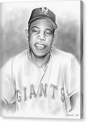 Willie Mays Canvas Print by Greg Joens