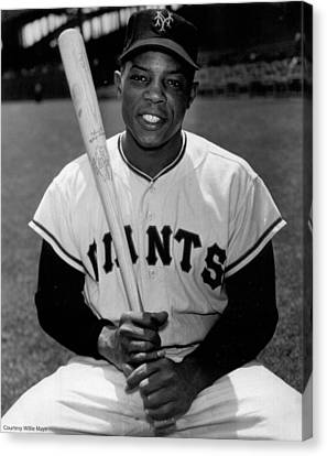 National League Canvas Print - Willie Mays by Gianfranco Weiss