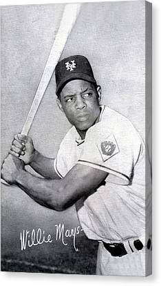 Willie Mays  Poster Canvas Print by Gianfranco Weiss