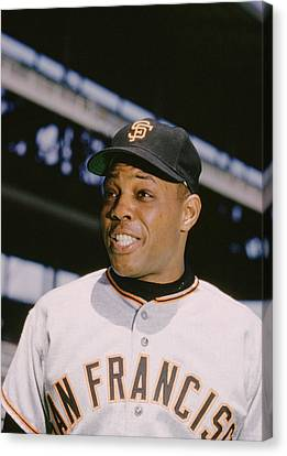 Gold Glove Canvas Print - Willie Mays Smiles by Retro Images Archive