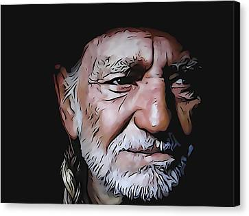 Willie Nelson Canvas Print by Dan Sproul