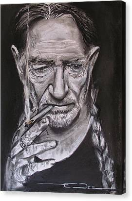 Willie Nelson - Doobie Brother Canvas Print by Eric Dee