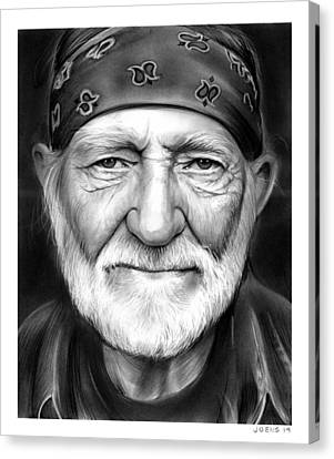 Willie Nelson Canvas Print by Greg Joens