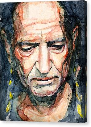 Canvas Print featuring the painting Willie Nelson  by Laur Iduc