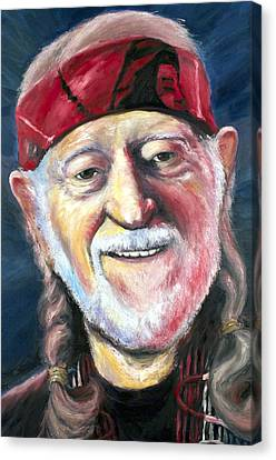 Willie Nelson On The Road Again Canvas Print