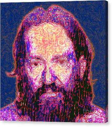 Willie Nelson Painterly 20130328 Square Canvas Print by Wingsdomain Art and Photography