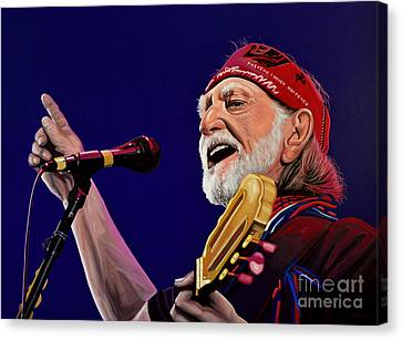 Willie Nelson Canvas Print by Paul Meijering