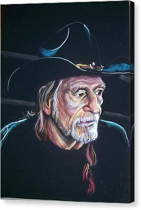 Canvas Print featuring the pastel Willie Nelson by Peter Suhocke