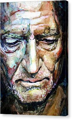 Willie Nelson  Portrait Canvas Print by Laur Iduc
