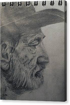 Willie Canvas Print by Rick Fitzsimons