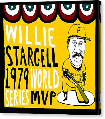 Willie Stargell Pittsburgh Pirates Canvas Print by Jay Perkins