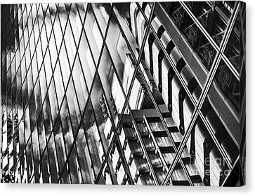 Willis Building And Lloyds Reflections Canvas Print by Tim Gainey