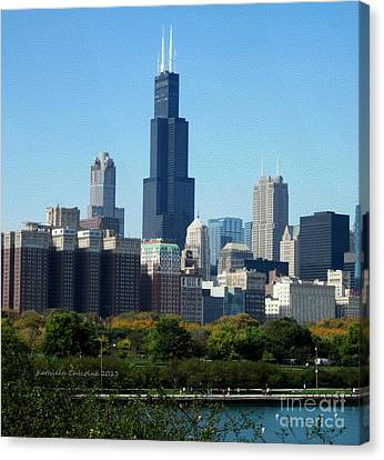 Willis Tower Canvas Print by Kathie Chicoine
