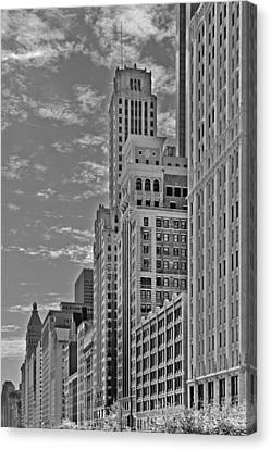 Willoughby Tower And 6 N Michigan Avenue Chicago  Canvas Print