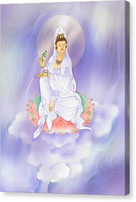 Willow Kuan Yin Canvas Print by Lanjee Chee