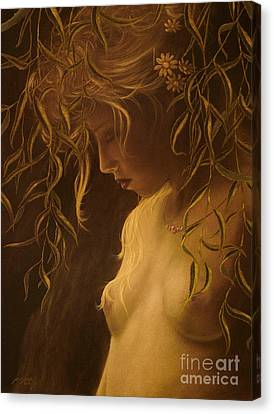 Willow Girl Canvas Print by John Silver