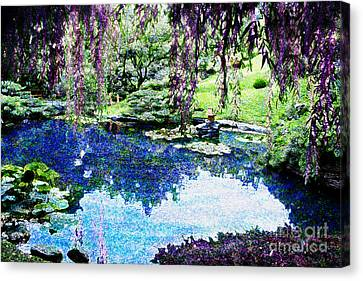 Willow Pond Canvas Print by Jeanette Brown