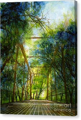 Willow Springs Road Bridge Canvas Print by Hailey E Herrera