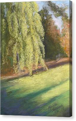 Willow Way Canvas Print by Melinda Saminski