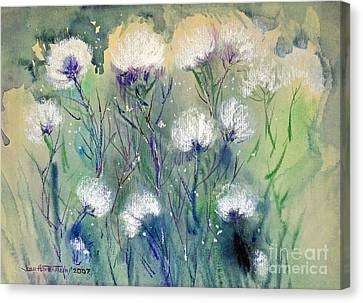 Willowy Whites Canvas Print