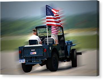 Willy Jeep From The 32nd Air Defense Canvas Print by Thomas Woolworth
