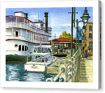 Wilmington Dock Canvas Print