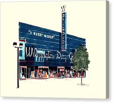 Wilmington Dry Goods Canvas Print by William Renzulli