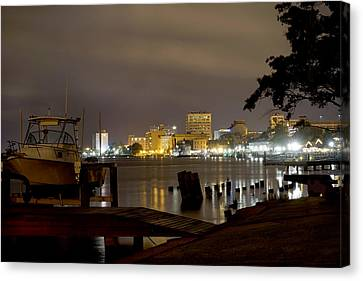 Mike Canvas Print - Wilmington Riverfront - North Carolina by Mike McGlothlen