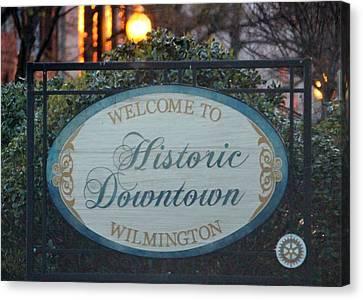 Wilmington Sign Canvas Print by Cynthia Guinn