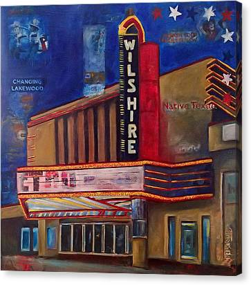 Wilshire Theater Canvas Print