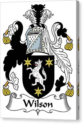 Wilson Coat Of Arms I Donegal  Canvas Print