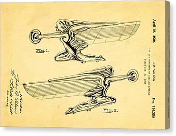 Wilson Hood Ornament Patent Art 1939 Canvas Print by Ian Monk