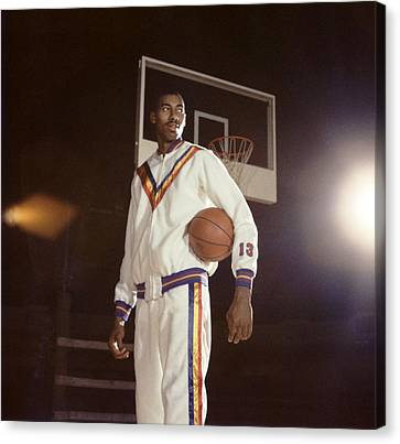Wilt Chamberlain In Warmups Canvas Print by Retro Images Archive