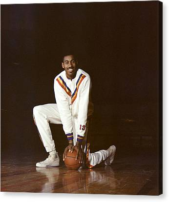 Wilt Chamberlain Philadelphia Warriors Canvas Print by Retro Images Archive