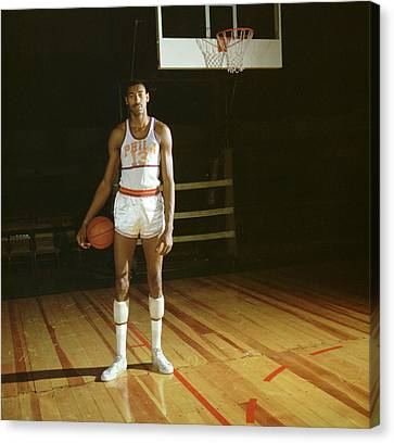 Wilt Chamberlain Stands Tall Canvas Print by Retro Images Archive