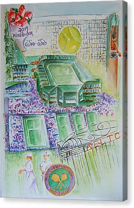 Wimbledon 2014 Canvas Print by Elaine Duras