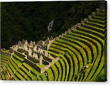 Modern Canvas Print - Winay Wayna Wide View by FireFlux Studios