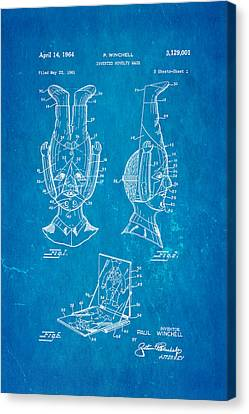 Inverted Canvas Print - Winchell Inverted Novelty Mask Patent Art 1964 Blueprint by Ian Monk