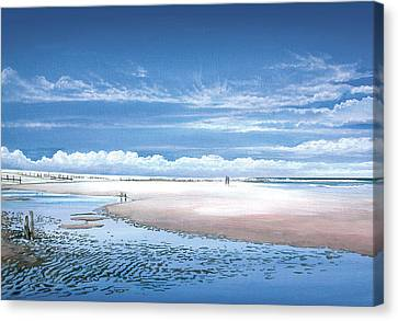 Winchelsea Beach Canvas Print by Steve Crisp