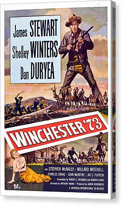 Winchester 73, Shelley Winters, James Canvas Print by Everett