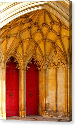 Canvas Print featuring the photograph Winchester Cathedral Archway - Mike Hope by Michael Hope