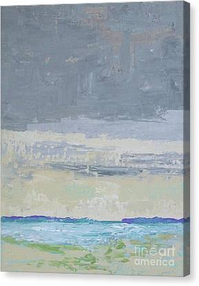 Wind And Rain On The Bay Canvas Print by Gail Kent