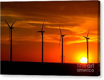 Canvas Print featuring the photograph Wind And Solar 1 by Jim McCain