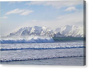 Wind And Waves On Kodiak Canvas Print