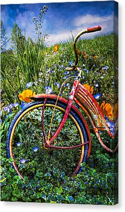 Flyers Art Canvas Print - Wind At Your Back by Debra and Dave Vanderlaan