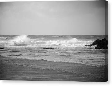 Wind Blown Waves Tofino Canvas Print